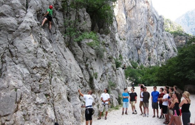 Rock climbing in NP Paklenica